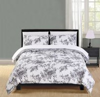 Mainstays Microfiber White Floral Bed-in-a-Bag