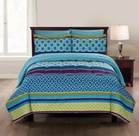 Mainstays Microfiber Geo Stripe Bed-in-a-Bag