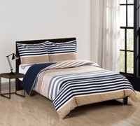 Mainstays Soft Touch Reversible Microfiber Duvet Cover Set Double/Queen