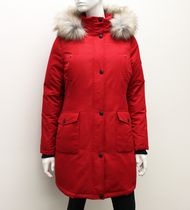 Canadiana Ladies' Down-Blend Parka Jacket Red L/G