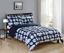 Mainstays Soft Touch Reversible Microfiber Bedding Comforter & Sham Set Double/Queen