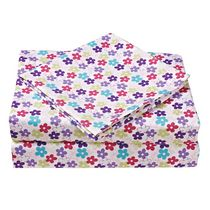 Mainstays Kids Floral Microfiber Sheet Set