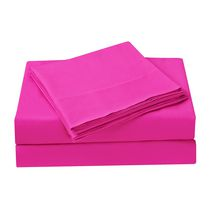 Mainstays Kids Pink Microfiber Sheet Set Queen