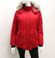 Canadiana Ladies' Down-Blend Bomber Jacket Red S/P