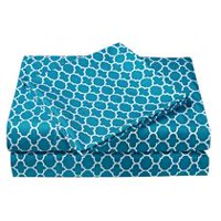 Mainstays Kids Geo Teal Microfiber Sheet Set Queen