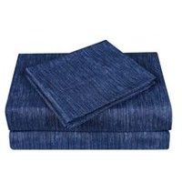Mainstays Kids Denim Microfiber Sheet Set Queen
