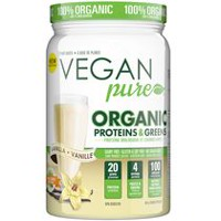 Vegan Pure Organic Protein & Greens Vanilla Nutritional Shake Powder