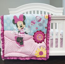 "Minnie Mouse ""Pretty in Gingham"" 3 Piece Crib Set"