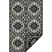 KORHANI home Loft Black Patio Rug