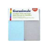 Garanimals Microfiber Fitted Crib Sheets Neutral 2 pk