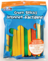Craft Sticks - Classic Colours - 150 count