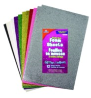 Elmer's Glitter Foam Sheets - Multi-Coloured