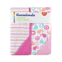 Garanimals Hooded Towel for Girl 2 Pack