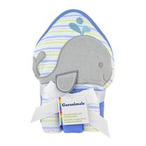 Garanimals Hooded Towel and 3 Washcloths for Boy