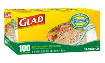 Glad® Sandwich Zipper Bags