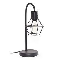 hometrends 16-inch Black Metal Cage Table Lamp