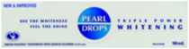 PEARL DROPS® Triple Power Whitening Toothpaste, 90ml
