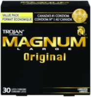 Condoms en latex lubrifiés Original MagnumMD de TrojanMD