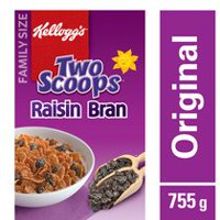 Kellogg's Two Scoops Raisin Bran Cereal, 755g