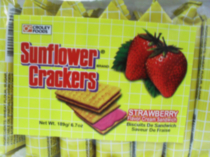 Croley Foods Sunflower Crackers Strawberry Sandwich