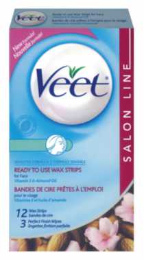Veet: Ready to Use Wax Strips - Face 12CT