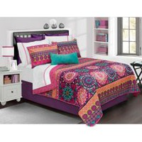 Safdie & Co. Home Deluxe Collection Multi Color 100% Polyester Quilt Set Twin