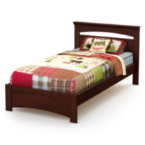 Lit complet collection Smart Basics de Meubles South Shore, simple (39 po) Royal Cherry