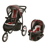 Graco FastAction Fold Jogger Travel System Red