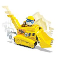 PAW Patrol Super Pup Rubble's Crane Toy Vehicle and Action Figure