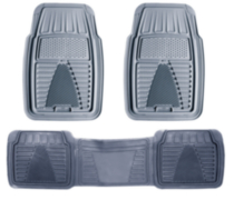 Pant Saver Zone Mat 3-Piece Set, Grey