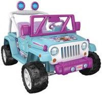 Véhicule Jeep Wrangler La Reine des neiges par Disney Power Wheels de Fisher-Price