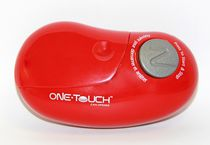 OneTouch automatic can opener, opens cans of all sizes