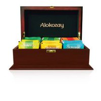 Alokozay Luxurious Mahogany Small Tea Chest with Gold Trimmings