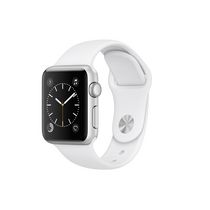 Apple Watch Series 1 38mm Silver Aluminium Case with White Sport Band