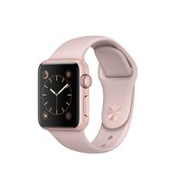 Apple Series 1 38mm Rose Gold Aluminium Case with Pink Sand Sport Band Watch