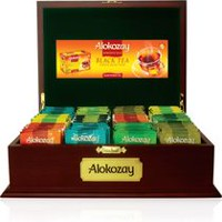 Alokozay Luxurious Mahogany Medium Tea Chest with Gold Trimmings