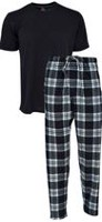 Hanes Men's 2-Piece Pyjama Set Black L