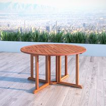 CorLiving Miramar Hardwood Outdoor Drop Leaf Dining Table