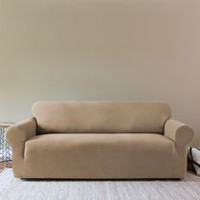 SureFit™ Sydney One-Piece Stretch Sofa Slipcover -Taupe