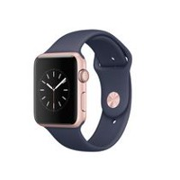 Apple Watch Series 1 42mm Rose Gold Aluminum Case with Midnight Blue Sport Band