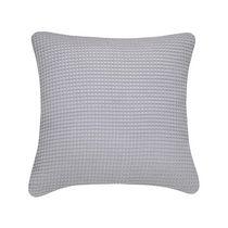 Waffle Grey Decorative Cushion