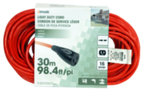 Woods Light Duty Cord with Single Outlet 30 M