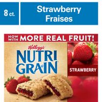 Kellogg's Nutri-Grain Cereal Bars 295g - Strawberry, 8 bars