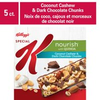 Kellogg's Special K Nourish Bar with Quinoa - Coconut Cashew & Dark Chocolate Chunks, 5 bars, 165g