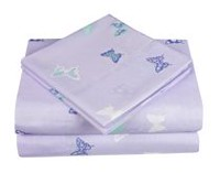Ens. draps en  Mainstays Kids pour filles à motif de papillon Simple