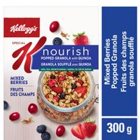 Kellogg's Special K Nourish Popped Granola with Quinoa, Mixed Berries, 300g