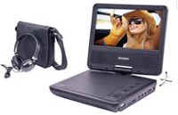"Sylvania 7"" Portable DVD Player with Swivel Screen & Headphones"