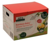 Aleva Naturals® Bamboo Baby® Sensitive Wipes- 432ct