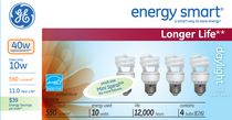 LFC T2 Spiral energy smart® GE 10 W – paquet de 3
