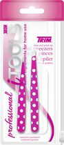 Trim iTools Mini Slant and Point Tip Tweezers with Brow Stencil